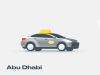 Taxis design around the world cab ride hailing transport barcelona dubai abu dhabi new york uber car taxi figma after effects icon animation