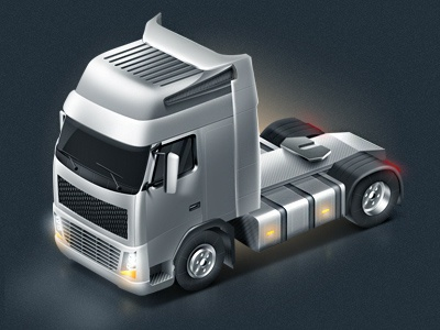 Little truck icon illustration