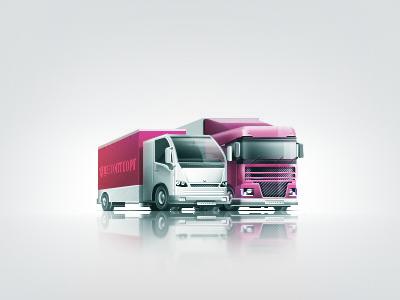 Teaser – Trucks icons illustrations teaser