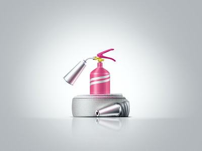 Fire Extinguisher icons illustrations teaser photoshop