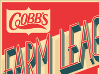 v2 of - Cobb's Farm League Ipa Beer Label