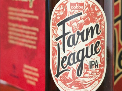 Farm League IPA - Final! design lettering illustration red cobb ipa label beer