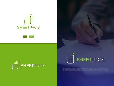 SheetPros logo graphic design illustrator illustration vector minimal logo design