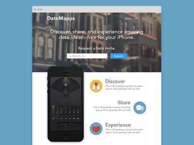 DateMapps Landing Page