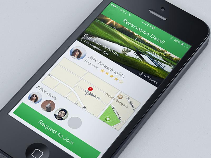 iOS 7 Detailed Reservation ios iphone ui ux design app mobile golf ios 7