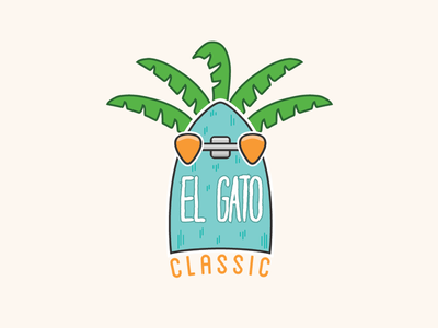 El Gato branding illustration logo