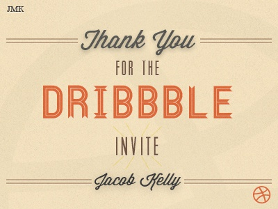Thank You! (Dribbble Debut)