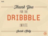 Thank You! (Dribbble Debut)