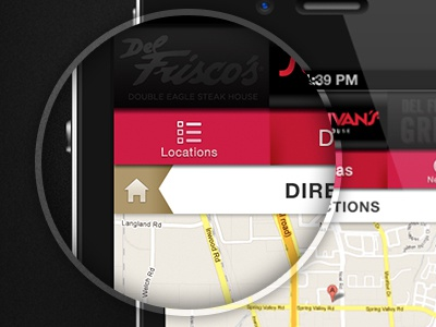 Mobile Website - Map Locaiton mobile website map location menu navigation iphone directions