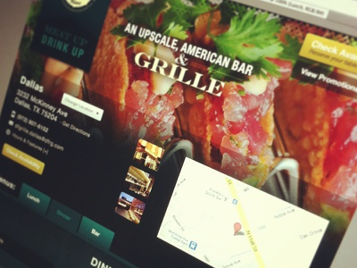 Something Tasteful ui interface website layout food