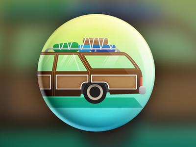 Achievement Badge illustration icon badges car travel button