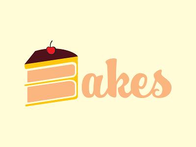 Bakes cake bakery bake typography branding logo bakerylogo vector design