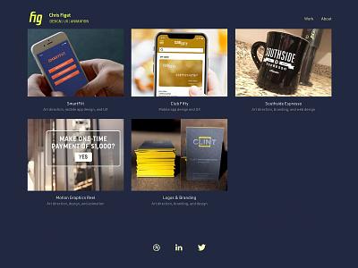 Figdigital portfolio redesign semplice portfolio identity branding web design webdesign ux