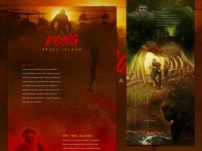 Kong Skull Island halloween web design creature monster kong mocktober
