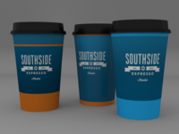 Cup concepts for Southside Espresso