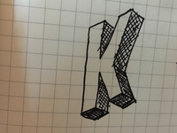 Isometric logo sketch