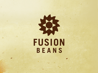Fusion Beans logo branding logo roaster coffee
