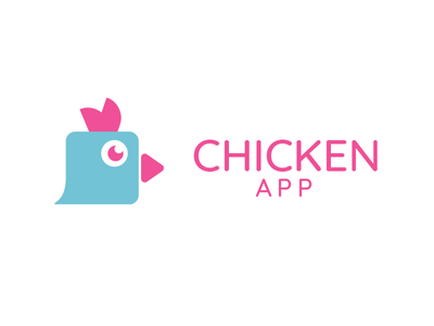 Chicken video chat app logo chat video chicken app logo app identity logo branding