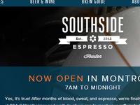 Southside Espresso website