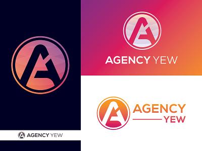 Agency Yew  Logo design graphic design icon branding flat minimal vector typography illustration design modern logo logo design logo