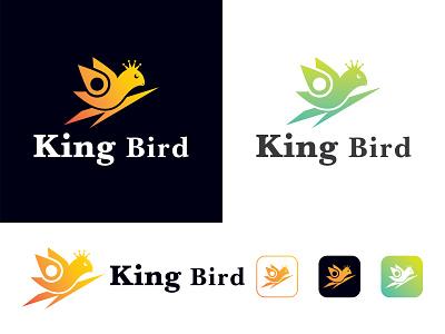 Kingbird - A logo for Modern google dribbble colorful logo brand identity app design logo design minimal modern logo typography vector flat icon graphic design branding logo