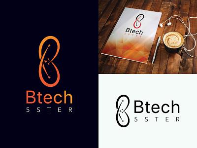 Btech 5 Ster clean logo new logo design tech logo sterlogo lettering logotype branding flat logo typography colorful logo modern logo logo design graphic design