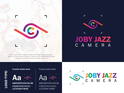 JOBY JAZZ CAMERA photography logo creative brand identity icon minimal typography branding colorful logo modern logo graphic design flatlogo camera icon camera app camera logo