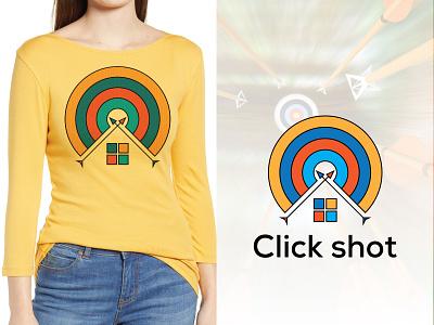 Click shot app typography brand identity vector minimal colorful logo graphic design modern logo flat c letter logo circle logo t-shirts teerlogo