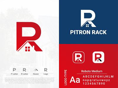 PITRON RACK LOGO vector flat typography logo graphic design modern logo colorful logo brand identity morden logo minimalist logo app icon app icon logo