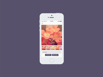 Blocstagram — Filter & upload page blocstagram photo app bloc ios design swift filter upload purple