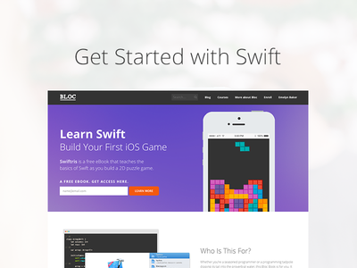 Launching our Swift online tutorial swift bloc ios tetris game tetris app puzzle game learn swift