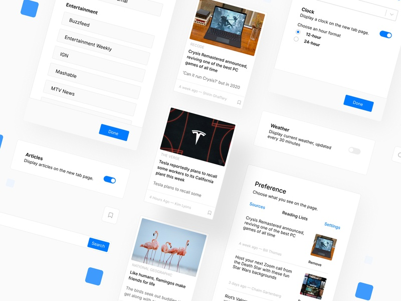 Headlines Exploration news minimal new tab chrome extension chrome