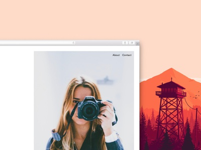 Homepage Snippet web ux ui blog photography minimal