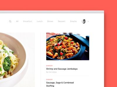 Recipy Preview side project blog recipe minimal clean post