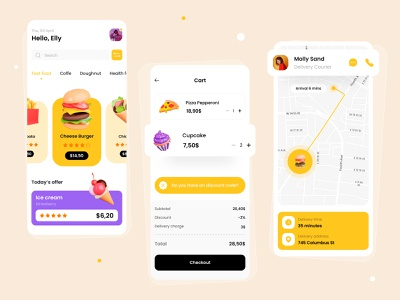 Food App Concept food delivery delivery eat mobile design mobile 3d food app food icon web ux ui design