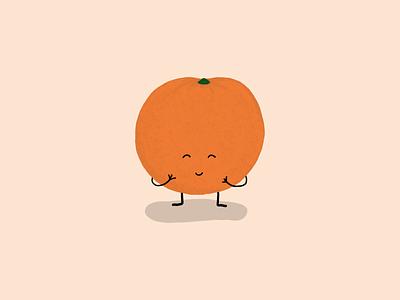 Giggling Orange adobe fresco illustration orange giggle