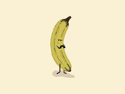 Pouting Banana adobe fresco illustration banana pouting
