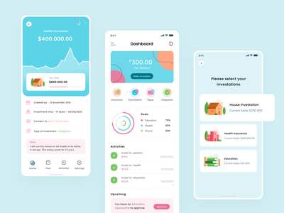 Financial Freedom App statistic wallet illustration app dashboard investation payment finance