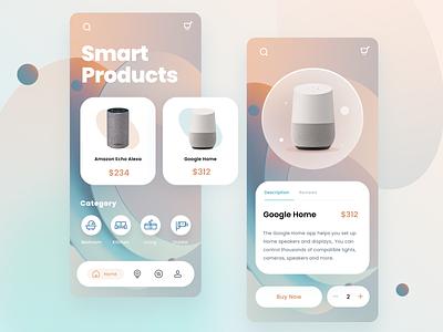 Smart Home App smart app icon details page gradient store ui app smart home