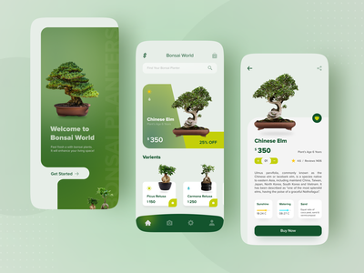 Bonsai Plant App greenery home plantation buying home delivery home decor online shopping app buy online help to environment planting plants enhance your space uiuxdesigner uiux tree lovers nature app bonsai plant app mobile app uiux design uidesign bonsai
