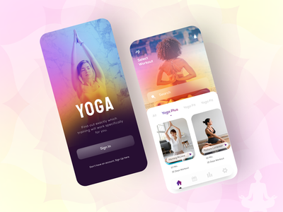 Yoga App yoga training customised traingng yoga plus yogafit yoga with music figmadesign self monitor yoga daily workout yoga trainers yoga lovers self care inner peace yoga pose yoga studio app design mobile app uidesign uiux yoga app