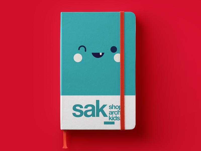 Shop. Arch. Kids. Notebook logo branding stationery notebook mockup kids