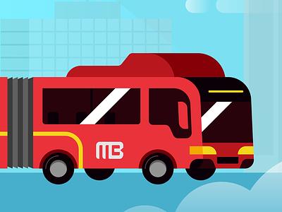 Metrobus icon vector flat design mexico city cdmx bus metrobus