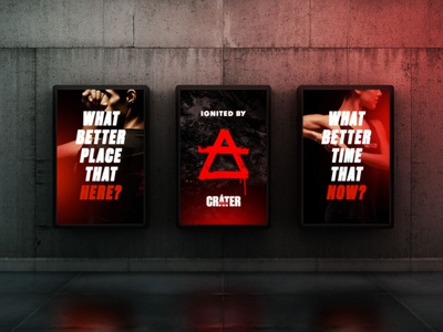 Brand identity for CRÁTER