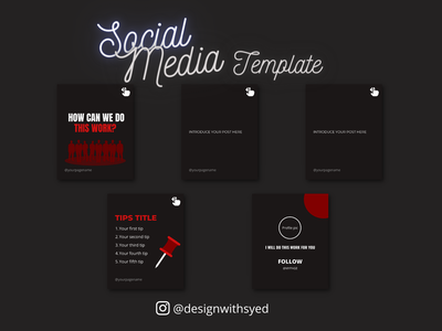 Instagram Carousel Template instagram socialmedia template branding illustration graphic design design