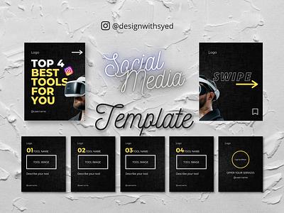 Social Media Carousel Template for Instagram/PInterest branding graphic design design