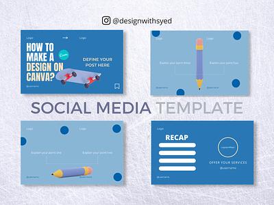 [Carousel] Social Media Template 2021 logo illustration branding graphic design design