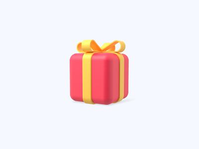 Gift 3D icon gift freebies freebie illustration design 3d icons 3d icon 3d designer 3d design 3d artist 3d art 3d