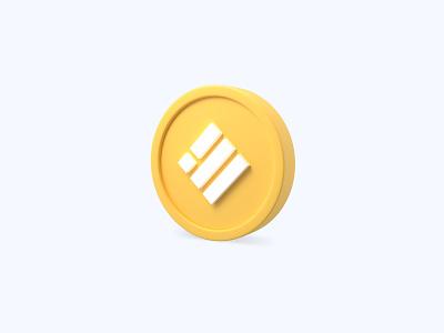 Binance USD 3D icon binance usd binance coin binance cryptocurrency crypto coin freebies freebie illustration design 3d icons 3d icon 3d designer 3d design 3d artist 3d art 3d