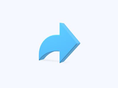 Share 3D icon arrow share freebies freebie ui icon icons 3d icons 3d icon 3d designer 3d design 3d artist 3d art 3d